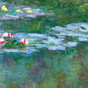 Detail of Claude Monet painting