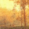 Detail of landscape by George Inness