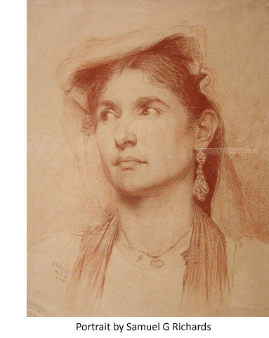 Portrait drawing by Samuel G Richards