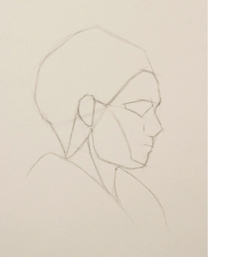 Using rhythms to draw the profile of the face