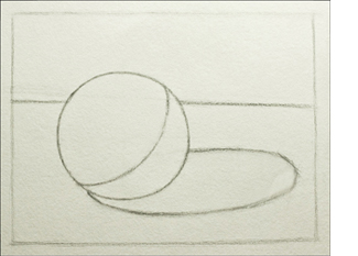 A block in for a successful, realistic sphere drawing.