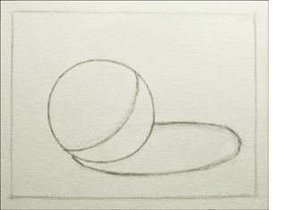Creating a smooth, curved line for the core shadow.