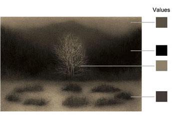 Still life value drawing by Marina Fridman