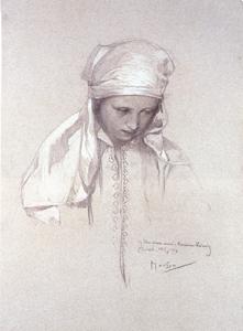 Portrait by Alphonse Mucha
