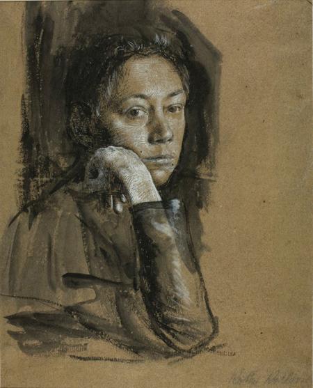 Kathe Kollwitz self portrait 1891