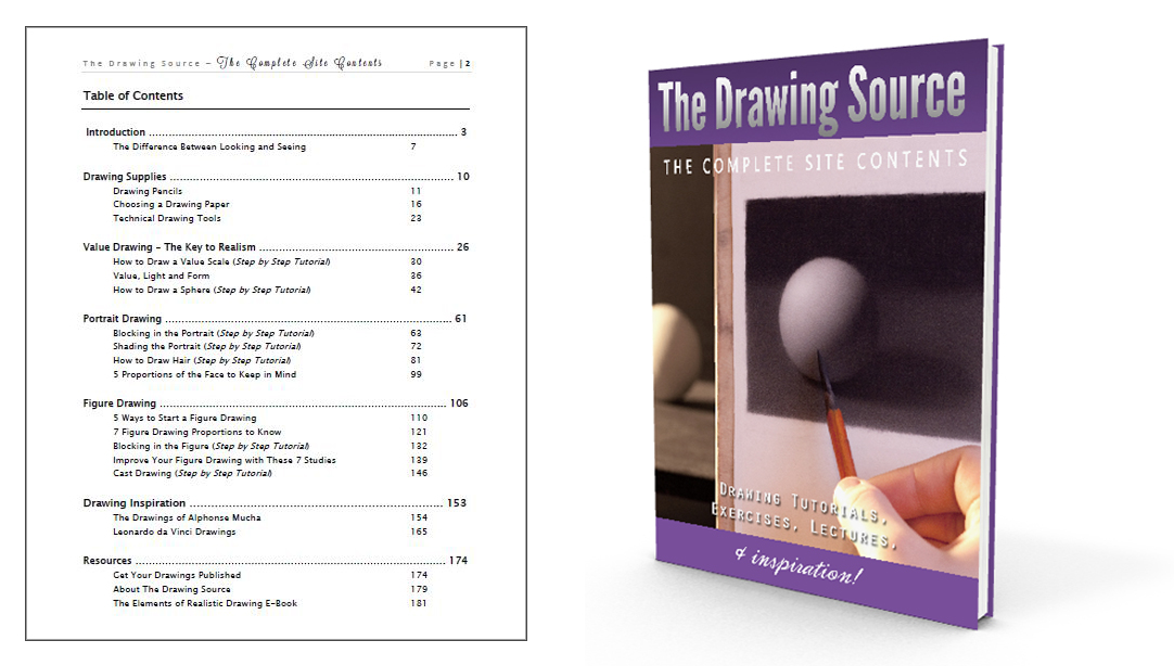 The Drawing Source's drawing articles in a convenient E-Book!