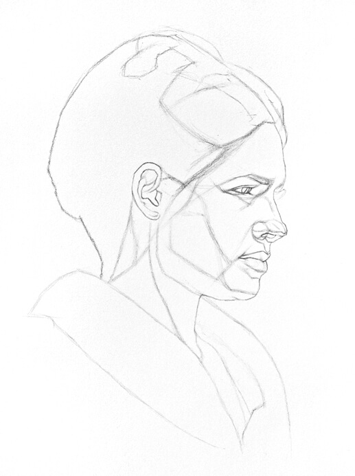 A portrait drawing tutorial with an emphasis on constructing the head and features of the face will be up soon