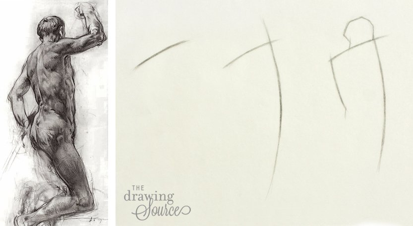 Drawing Figures: starting with the shoulder line