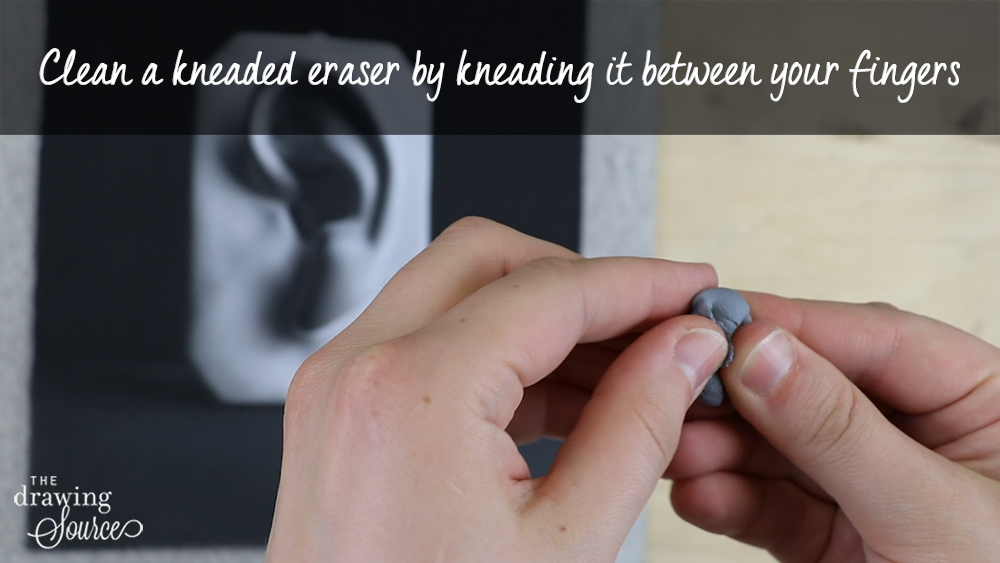 How to clean a kneaded eraser