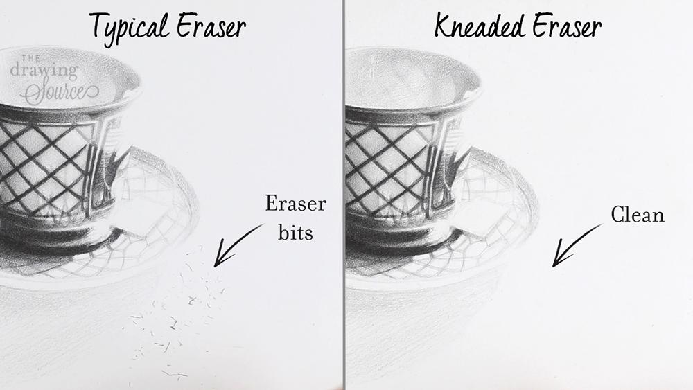 Kneaded eraser does not leave eraser bits