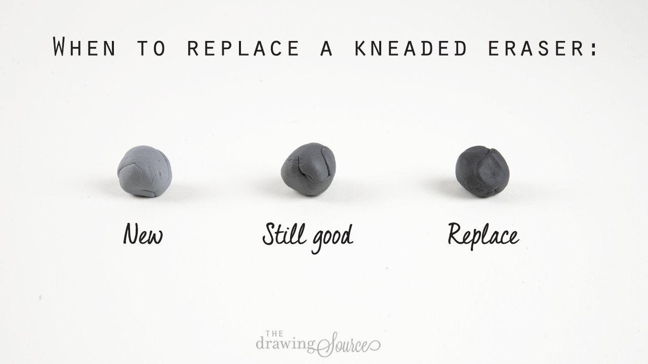 When to replace a kneaded eraser